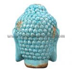 Antique-Porcelain-Bule-Buddha-Head-Rear-Table-Decor