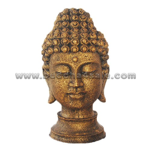 Gilding Resin Buddha Head Table Decor Front