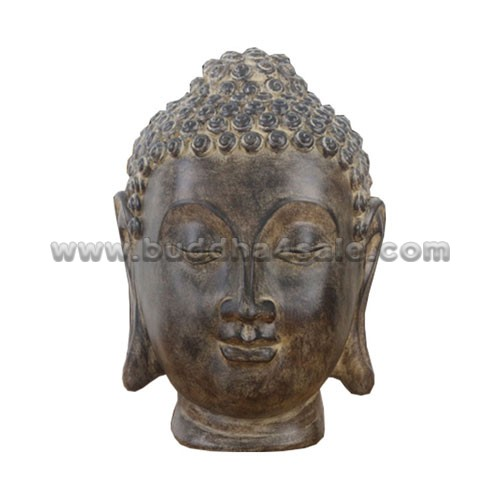 Antique Table Decor Buddha Statue Collectable Religious: Antique Wooden Resin Garden Outdoor Large Lord Buddha Head