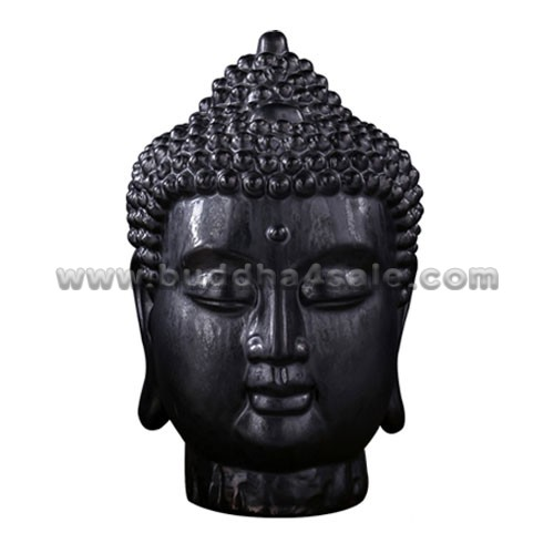 Porcelain-Black-Buddha-head-Rear-Table-Decor