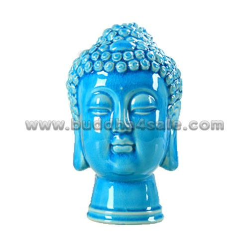 Porcelain-Bule-Buddha-Head-Front-Table-Decor