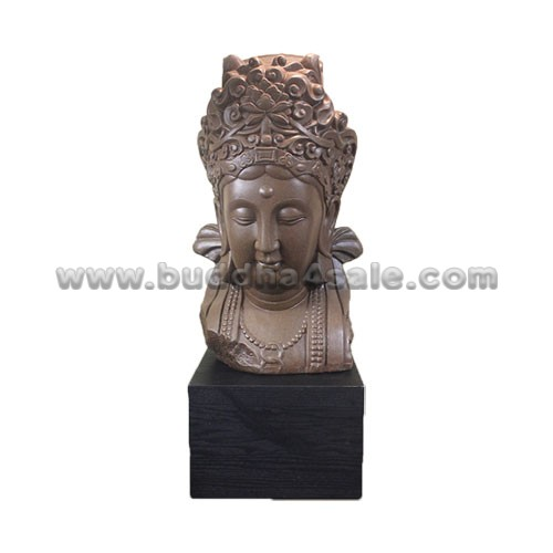 Resin Bodhisattva Head Merciful Decor Front