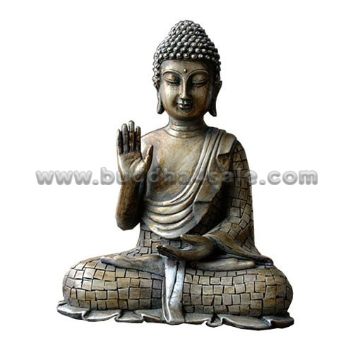 Resin-Bronze-like-Meditation-Sitting-Buddha-Front