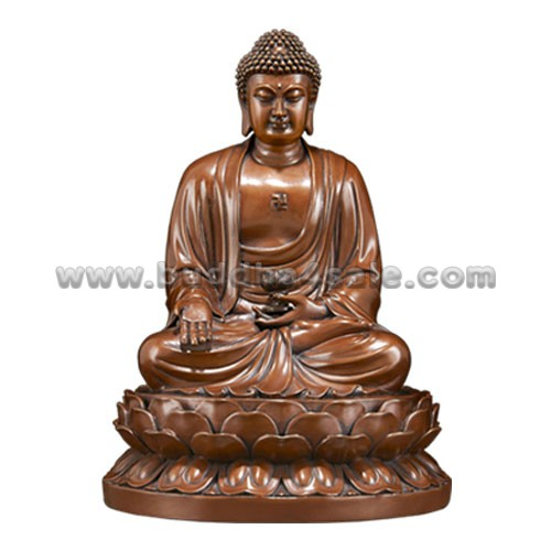 1Copper Sitting Meditation Amitabha Holding a Bowl Rear