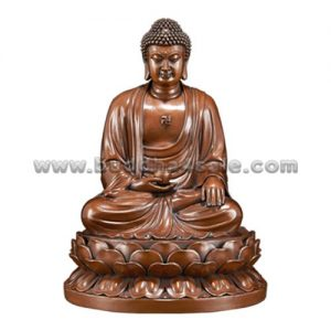 1Copper Sitting Meditation Medicine Buddha Holding a Bowl