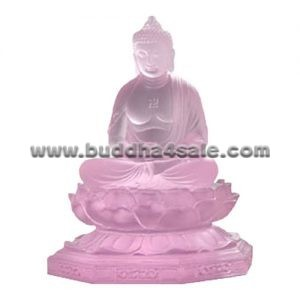 pink-clear-transparent-coloured-glaze-liuli-crystal-glass-sitting-buddha
