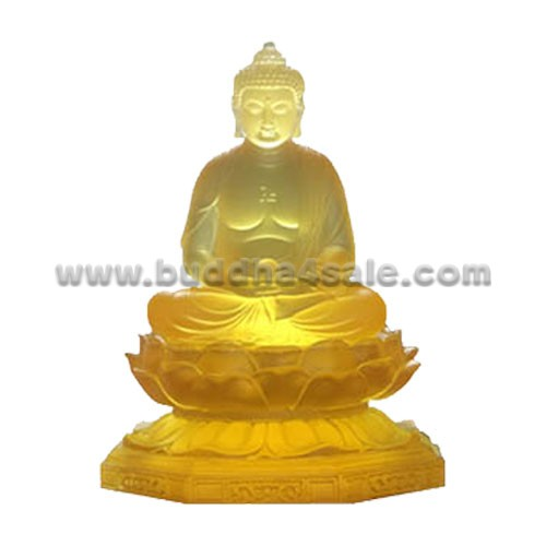 yellow-clear-transparent-coloured-glaze-liuli-crystal-glass-sitting-buddha