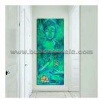 buddha head portrait abstract modern oil painting drawing buddhism picture on canvas wall decor artwork 1
