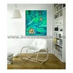 buddha head portrait abstract modern oil painting drawing buddhism picture on canvas wall decor artwork 2