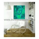 buddha head portrait abstract modern oil painting drawing buddhism picture on canvas wall decor artwork 3