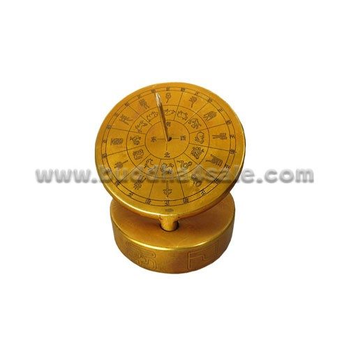 Pure copper sundial compass sundial compass compass solar height measurement guide ancient astronomical timer geomantic